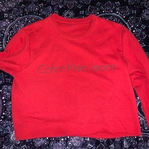 Calvin Klein cop top sweater